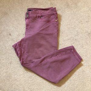 Torrid Colourful Denim Jeans Skinny Leg C
